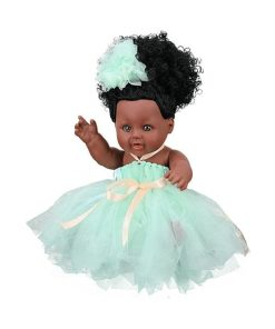 Eding Afro Babypuppe in Mint princess